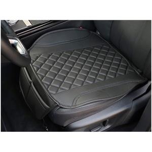Sitzauflage Kunstleder Schwarz mit Schwarzen Nähten passend für Skoda Yeti Sitzbezüge Auto Sitzauflage Sitzkissen OT404