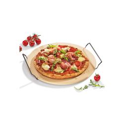 Neuetischkultur Pizzastein Pizzastein mit Gestell, Keramik, Pizzastein