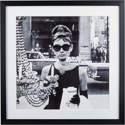 G&C Bild Celebrities: Audrey Hepburn Motiv 1, 40/40 cm, gerahmt