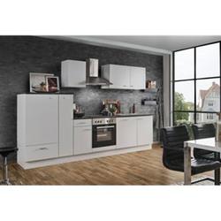 Menke Küchen Küchenzeile White Classic 300 cm, inkl. Geschirrspüler - weiß