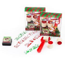 2er Stempel Set Weihnachten Stempel Weihnachtsmotive selbstfärbend