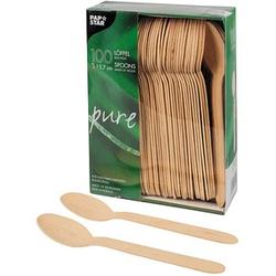 100 PAPSTAR Einweg-Löffel pure Holz