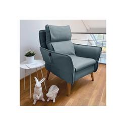 Sesselschoner, PLACE TO BE., Sesselschonbezug für Relaxsessel Insideout blau