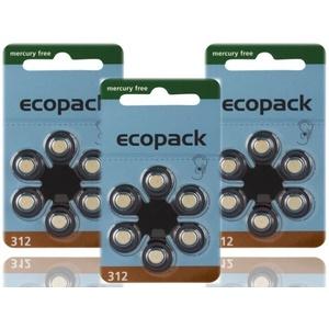120 X Varta Ecopack Typ 312 Hörgerätebatterien Pr41 Hörgeräte-batterien