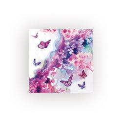 VBS Papierserviette Schmetterling Lila, (5 St), 33 cm x 33 cm