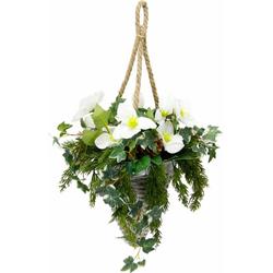 Kunstpflanze Christrose, Höhe 50 cm