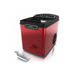 Arendo Eiswürfelmaschine, Eiswürfelmaschine 105 W – 1,8 Liter Eiswürfelbereiter - 9 Eiswürfel in 8 Minuten rot
