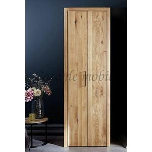 Massivholz Garderoben-schrank 1türig Rustikale Wildeiche Geölt Kleiderschrank