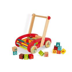 Janod Lauflernwagen Wagen ABC mit 30 Bausteinen (Holz)