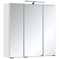 HELD MÖBEL Spiegelschrank Texas Breite 60 cm, mit LED-Aufbauleuchte weiß