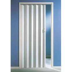 Falttür, Höhe nach Maß, weiß ohne Fenster 135 cm