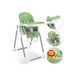 KIDIZ Hochstuhl, 3in1 Hochstuhl, Sitzerhöhung, Hocker, Kinderhochstuhl inkl. Spielbügel, Babyliege, Kombihochstuhl, verstellbare Rückenlehne und Höhe,mitwachsend ab 0 grün