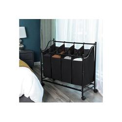 SONGMICS Wäschekorb LSF005, Wäschebehälter auf Rollen
