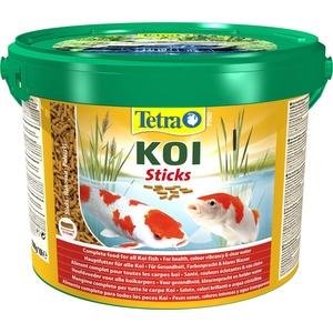 Tetra Pond Koi Sticks – Koifutter für farbenprächtige Fische und eine verbesserte Wasserqualität, 10 L