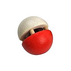 Kugel-Glöckchen (rot/natur)