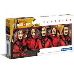Clementoni® Puzzle Panorama Special Series Collection - Das Haus des Geldes, 1000 Puzzleteile, Panorama; Made in Europe