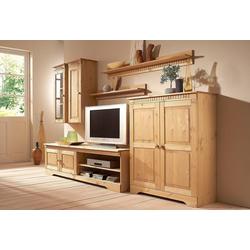 Home affaire Wohnwand, (Set, 4-tlg), Set aus: 2 Hängeschränken, Lowboard und Kommode natur