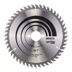 Bosch Kreissägeblatt Optiline Wood für Handkreissägen 190 x 30 x 2,6 mm 48