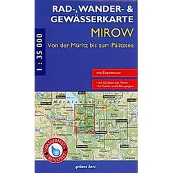Rad-  Wander- & Gewässerkarte Mirow - Buch