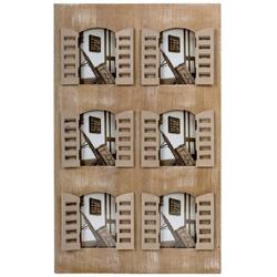 elbmöbel Bilderrahmen Bilderrahmen Fensterladen 6 Fotos Holz braun, für 6 Bilder, Bilderrahmen: 6erCollagen Rahmen 40x67x2 cm holz Fenstertüren