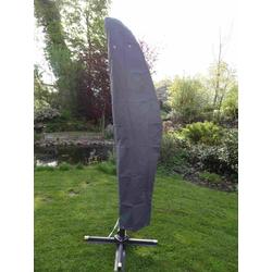 Premium Schutzhülle für Ampelschirm grau, Abdeckung Sonnenschirm