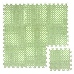 LittleTom Puzzlematte Baby Puzzlematte ab 0 Kinder Spielmatte, 9 Puzzleteile, Krabbelmatte Punkte Grün