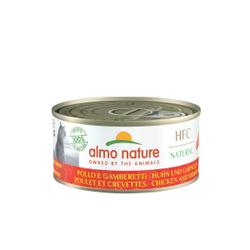 Almo Nature HFC Huhn und Garnelen Katzenfuttter 12 x 150 Gramm