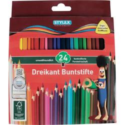 Farbstift Stylex 24 lange Buntstifte aus FSC-Holz 26004 1St.