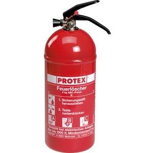 Protex Feuerlöscher PD 2 GA Auto, 2 kg, mit Kfz-Halterung und Manometer ABC Pulverlöscher