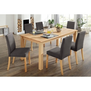 Home affaire Essgruppe, (Set, 7-tlg) braun