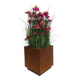BADEKO Übertopf Übertopf in Rostoptik - edler Topf um Ihre Pflanzen toll in Szene zu setzen - Rost Dekoration zum Bepflanzen