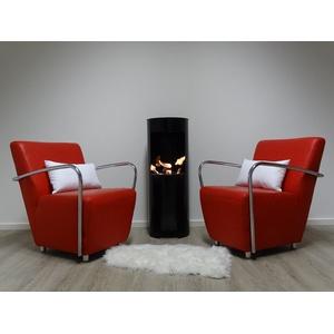Ethanol und Gelkamin Gel Kamin Modell Hightower Schwarz 100cm inklusive 3 Brennstoffdosen