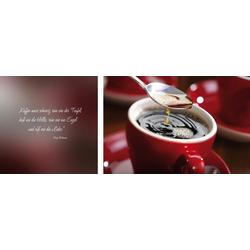 Leinwandbild Kaffee, (Set), 2er-Set