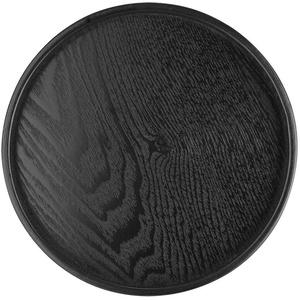 Pangdingk Schulzeit Tablett, runde Form Massivholz Tee Kaffee Snack Essen Teller Restaurant Tabletts(30cm)