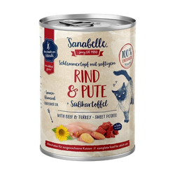 Sanabelle Nassfutter mit Rind & Pute 380 g (Menge: 6 je Bestelleinheit)