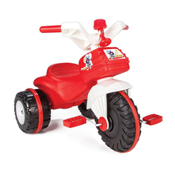 Pilsan Dreirad Dreirad Bidik Bike 07119, rot aus Kunststoff mit Pedale und Hupe