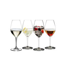 RIEDEL Glas Champagnerglas Mixing Champagne 4er-Set, Kristallglas weiß