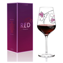Ritzenhoff Rotweinglas Red Design Ramona Rosenkranz, Kristallglas weiß