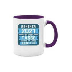Shirtracer Tasse Rentner 2021 - blau - Tasse zweifarbig