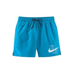Nike Badeshorts, mit Markenlogo am Bein blau S