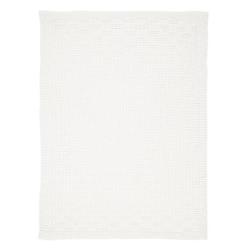 Alvi Strickdecke Karo weiß 75 x 100 cm