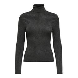 ONLY Rib Knitted Pullover Damen Grau Female L