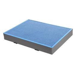 Niedersprungmatte blau-grau - 300 x 200 x 12 cm