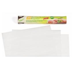 Papstar Butterbrotpapier, Maße: 25 cm x 30 cm, weiß, 1 Packung = 100 Blatt