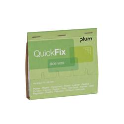 Plum QuickFix® Aloe Vera Refill Wundpflaster, Vorgetränkte Wundauflage mit Aloe Vera, 1 Packung = 45 Pflaster