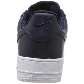 Nike Men's Air Force 1 '07 navy/ white, 45
