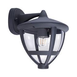 RGB LED Wandlampe, Laterne, ALU, anthrazit, B 17,5 cm