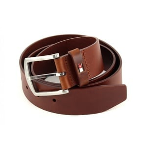 TOMMY HILFIGER New Denton Belt 4.0 W115 Dark Tan