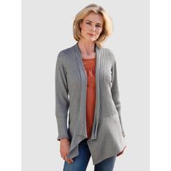 Dress In Strickjacke in asymmetrischer Form grau 44