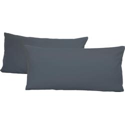 Schlafgut Kissenbezug Jersey, (2 St.), mit Aloe Vera Ausrüstung grau Kissenbezüge gemustert Kissen